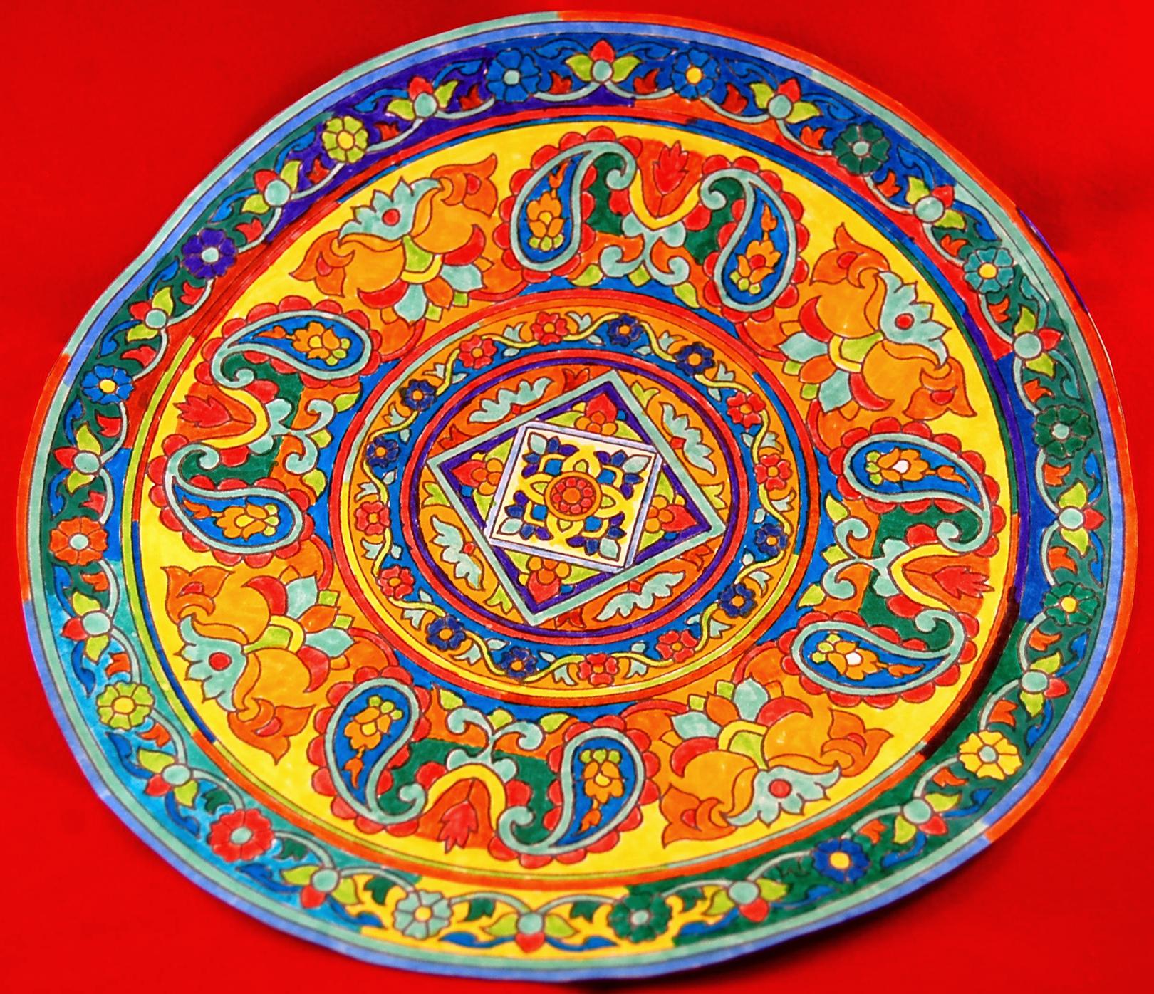 Mandala tout en couleurs